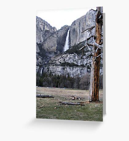 Upper & Lower Yosemite Falls Greeting Card
