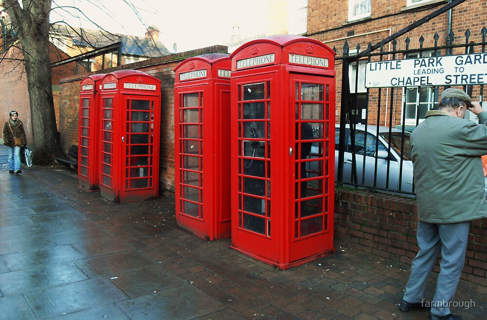 Red 'Phone Boxes by farmbrough