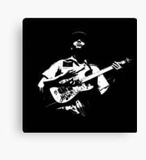 Dark Guitarist Canvas Print