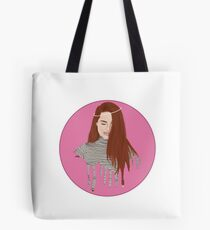 Madelaine Petsch- a study in pink drippings Tote Bag
