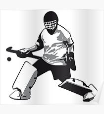 Field Hockey Goalie Drawing Posters Redbubble