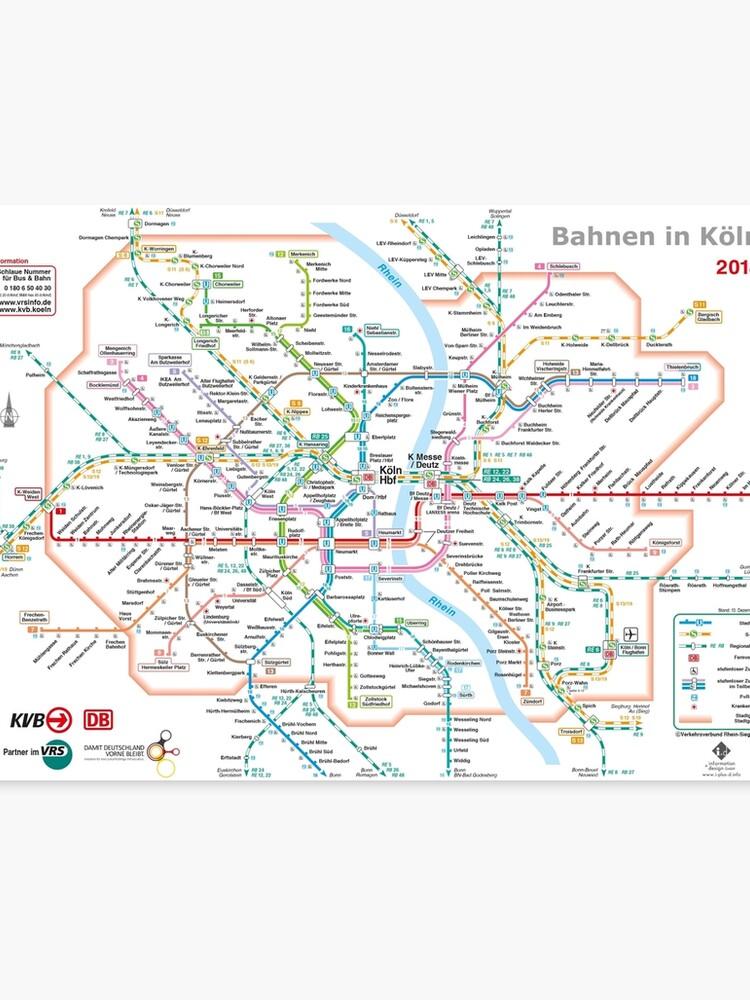 Köln Karte Deutschland.Köln Köln U Bahn U Bahn S Bahn Karte Deutschland Leinwanddruck