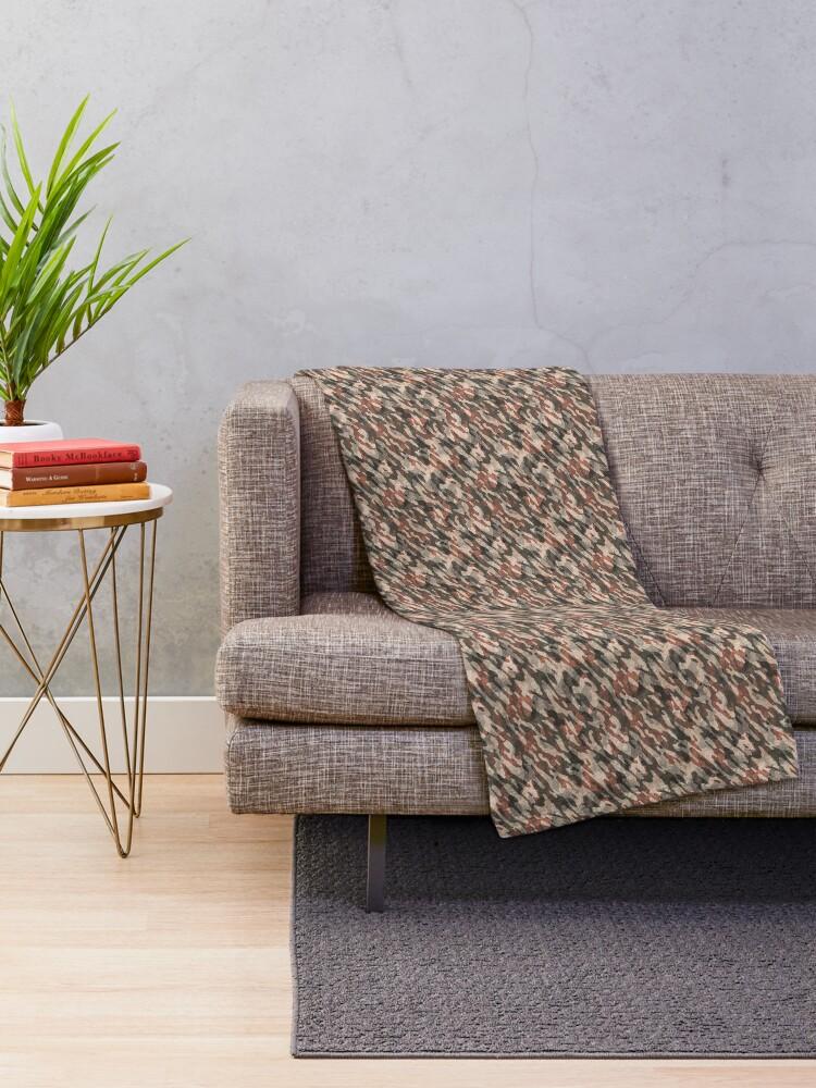 Alternate view of Stylish Desert Camouflage Throw Blanket