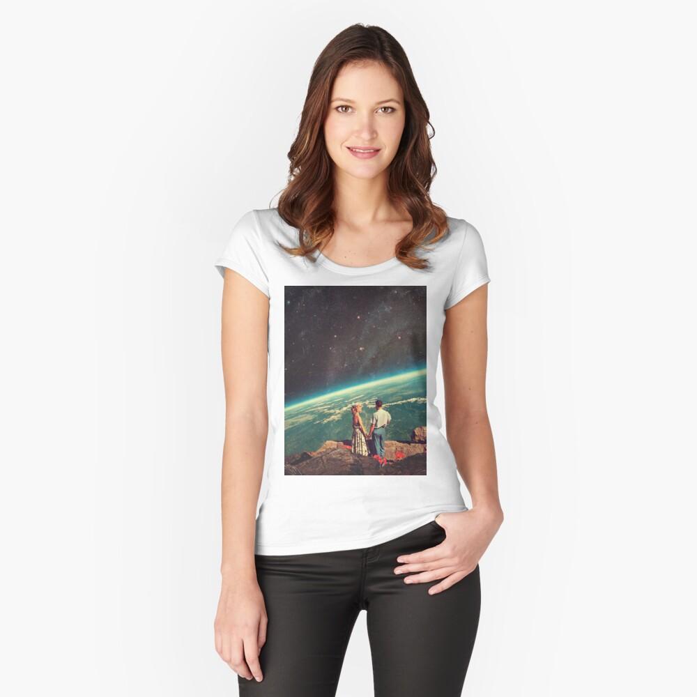 Amor Camiseta entallada de cuello ancho