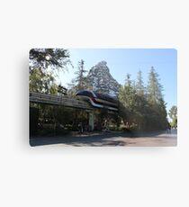 Take a ride on the Monorail Metal Print