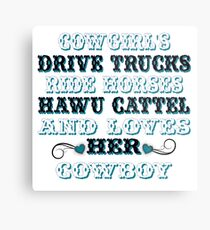 Cowgirls Saying's Metal Print