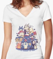 Creatures Spirits and friends Fitted V-Neck T-Shirt