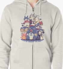 Creatures Spirits and friends Zipped Hoodie