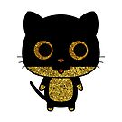 Awesome LOVE Cats Gold Glitter by Delpieroo