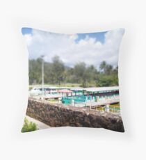 fern grotto dock Throw Pillow