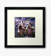 me and my unicorn Framed Print