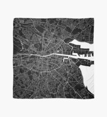 Dublin Map (Black) Scarf