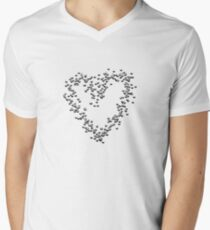 Heart Men's V-Neck T-Shirt