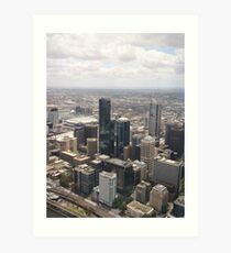 Melbourne CBD Art Print