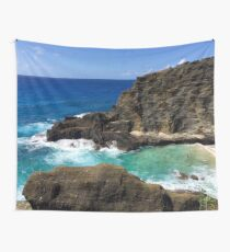 The Blowhole of Oahu Wall Tapestry