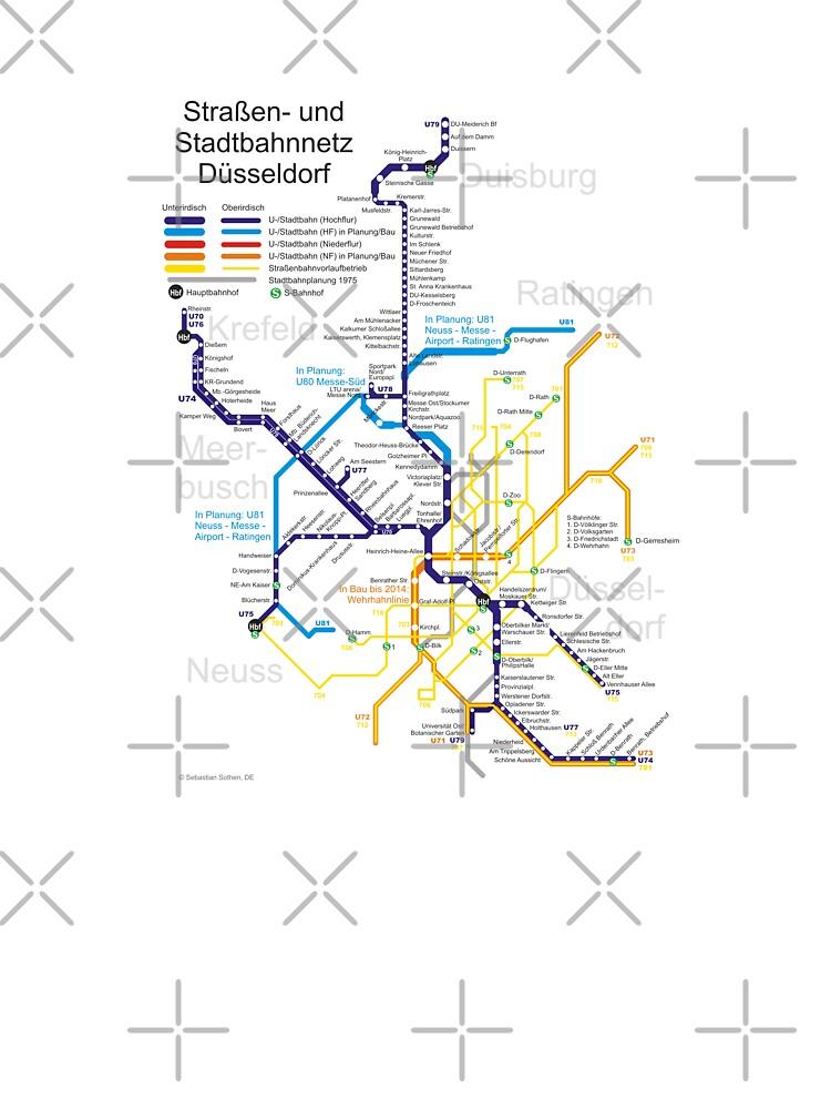 Dusseldorf Subway Map.Dusseldorf Metro Subway U Bahn S Bahn Map Germany Baby One Piece