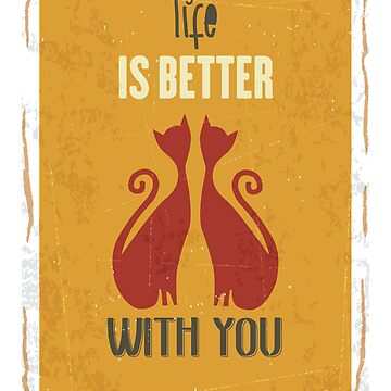 life is better with you t-shirt , unisex tees , tshirt for friends  by anodyle