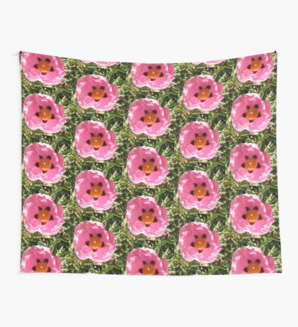 Rock  Rose Wall Tapestry