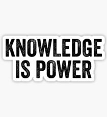 Knowledge Is Power - Great For Motivation Mindful Sticker