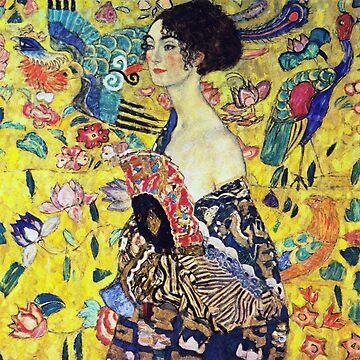 Gustav Klimt - Lady with Fan by NewNomads