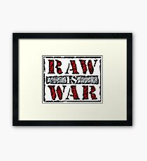 Retro Raw Framed Print