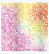 The Abstract Rainbow Geometric Pattern with Fragments. Poster