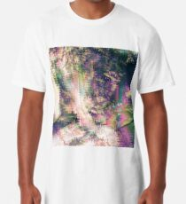 Fragmented Abstract Artwork Long T-Shirt