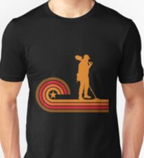 Retro Style Coinshooter Silhouette Metal Detecting Unisex T-Shirt