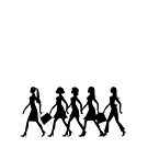 Ladies Shopping Silhouette by David Dehner