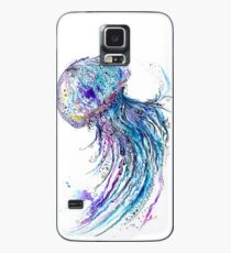 Jelly fish watercolor and ink painting Case/Skin for Samsung Galaxy