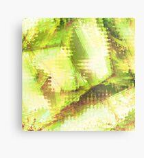 Fragmented Green Abstract Artwork Metal Print