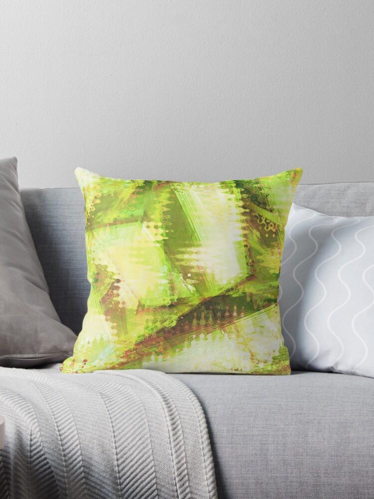 Fragmented Green Abstract Artwork by CreativeBytes