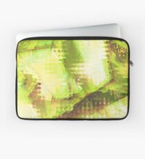 Fragmented Green Abstract Artwork Laptop Sleeve