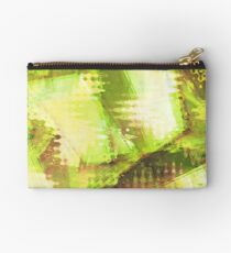 Fragmented Green Abstract Artwork Studio Pouch