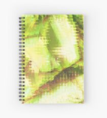Fragmented Green Abstract Artwork Spiral Notebook