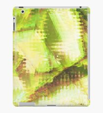 Fragmented Green Abstract Artwork iPad Case/Skin