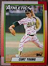 219 - Curt Young by Foob's Baseball Cards