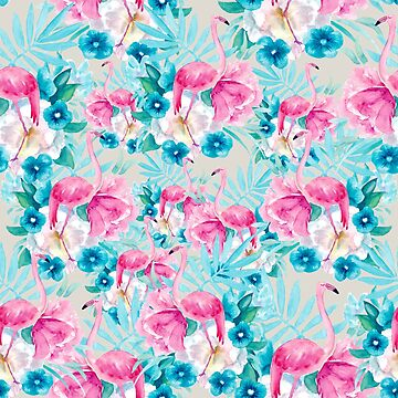Flamingo pattern by MariaMahar