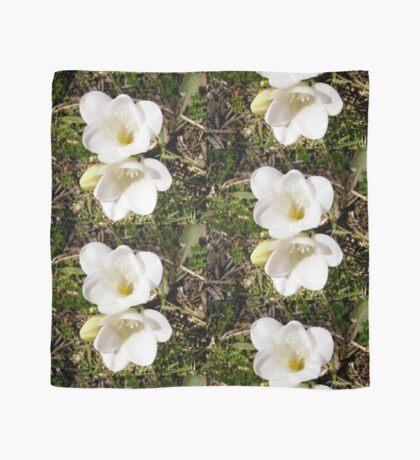 White Flower Scarf