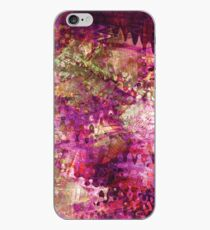 Fragmented Purple Red Abstract Artwork iPhone Case