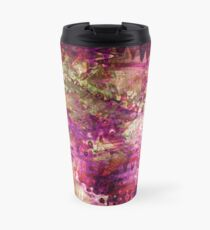 Fragmented Purple Red Abstract Artwork Travel Mug