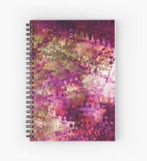 Fragmented Purple Red Abstract Artwork Spiral Notebook