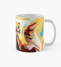 Expressive Cello People Painting Classic Mug