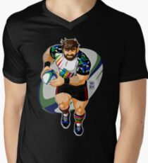 ADAM LIKES TO PLAY RUGBY Men's V-Neck T-Shirt