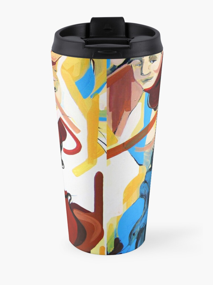 Alternate view of Expressive Cello People Painting Travel Mug