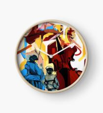 Expressive Cello People Painting Clock
