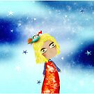 Kids Illustration Sky Stars Doll - Australia Home Decor - Clothing - Ruth Fitta-Schulz Art 2018 by rupydetequila