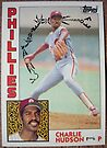 228 - Charlie Hudson by Foob's Baseball Cards