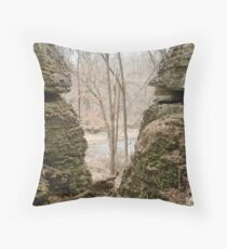 Valley of Rock Throw Pillow