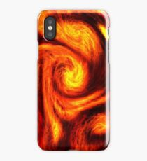 Abstract psychedelic neon fire swirls. Smoke effects .  iPhone Case/Skin